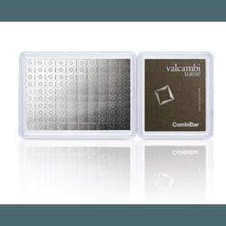 Barras de Prata 100x1 gramas - Valcambi Silver CombiBar™ - ARGENTUM HEDGE