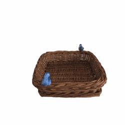 Cesta Pássaro Quadrada Natural - Astuti Casa