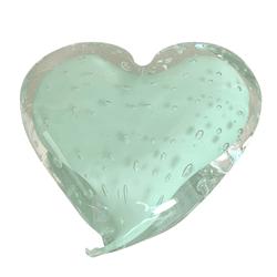Coração de Cristal Murano Verde Celadon - Astuti Casa