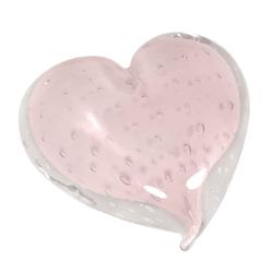 Coração de Cristal Murano Rosa Claro - Astuti Casa