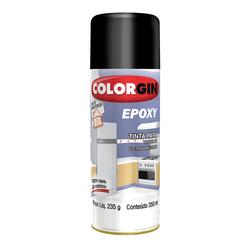 COLORGIN SPRAY EPÓXI PRETO 350ML - Baratão das Tintas