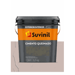 CIMENTO QUEIMADO PEDRA ROSADA SUVINIL 5KG - Baratão das Tintas