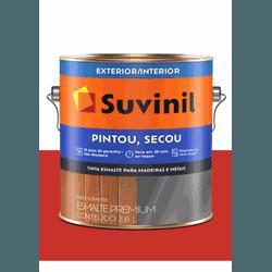 SUVINIL ESMALTE PINTOU SECOU VERMELHO 3,6L - Baratão das Tintas