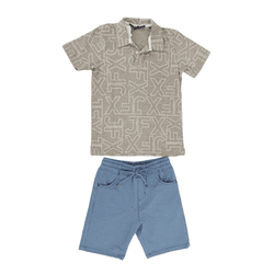 Conjunto Camiseta Polo e Bermuda Johnny Fox - 4187... - BARRADESAIA