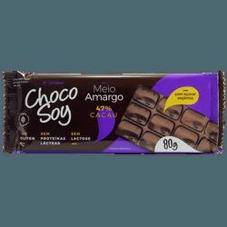 Chocolate Choco Soy Meio Amargo 80g Sem Lactose Se... - BCL ALIMENTOS