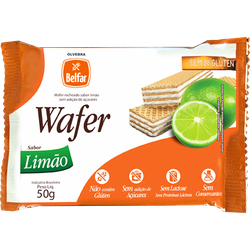 Wafer Belfar Limão Sem Glúten 50g - 178010 - BCL ALIMENTOS