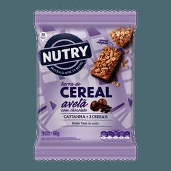 Barra De Cereais Nutry Avelã com Chocolate 3x22g -... - BCL ALIMENTOS