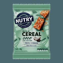 Barra De Cereais Nutry Coco com Chocolate 3x22g - ... - BCL ALIMENTOS