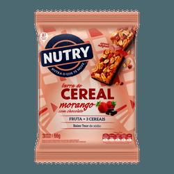 Barra de Cereais Nutry Morango com Chocolate 3x22g... - BCL ALIMENTOS