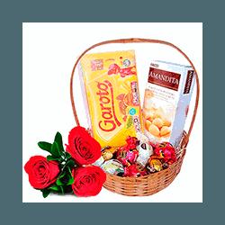 Cestas de Chocolate - Jardim Eliana - 5002 - Bellas Cestas Online Salvador