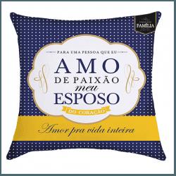 Almofada - Amo de Paixão Meu Esposo - 9140708 - Bellas Cestas Online Salvador