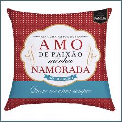 Almofada - Amo de Paixão Minha Namorada - 9140727 - Bellas Cestas Online Salvador