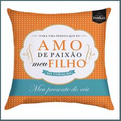 Almofada - Amo de Paixão Meu Filho - 9140704 - Bellas Cestas Online Salvador