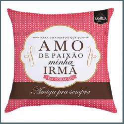 Almofada - Adoro Minha Irmã - 9140707 - Bellas Cestas Online Salvador