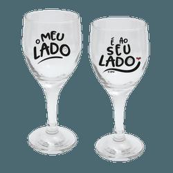 Jogo de Taças de Vinho Com 2 - Ao Seu Lado - 1322... - Bellas Cestas Online Salvador