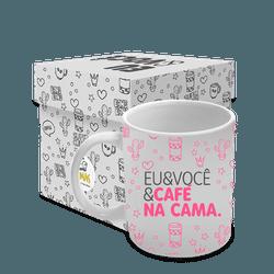 Caneca - Eu & Você e Café - 13301 - Bellas Cestas Online Salvador