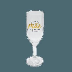 Taça de Champagne - Melhor Mãe do Mundo - 13159 - Bellas Cestas Online Salvador