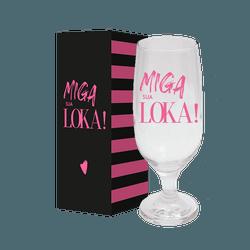 Taça de Cerveja - Miga Sua Loka - 6130796 - Bellas Cestas Online Salvador