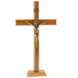 Crucifixo Mesa e Parede -Madeira 40 cm - 21910 - Betânia Loja Católica