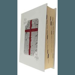 Bíblia Ave Maria com Lantejoula - Branco e Vermelh... - Betânia Loja Católica