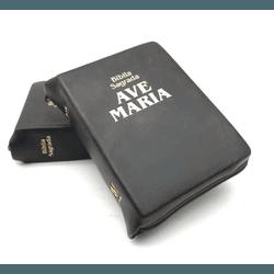 Bíblia Ave Maria - Zíper BOLSO Marrom - 17 - Betânia Loja Católica