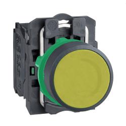 Botão 22mm Plástico Pulsador Amarelo NA XB5EAA51 S... - Bignotto Ferramentas