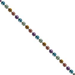 Corrente Mini Rivoli Pedras 10x10mm Degradê - Banh... - BMSTRASS