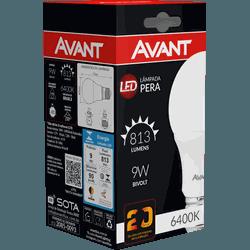 Lâmpada Bulbo LED 9W Branca 6.500K Bivolt - Broketto Materiais Elétricos