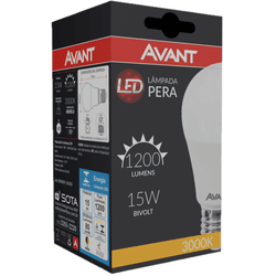 Lâmpada Bulbo LED 15W Amarela 3.000K Bivolt - Broketto Materiais Elétricos