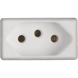 Módulo Tomada 2P+T 10A Branco LIZ - Tramontina - Broketto Materiais Elétricos