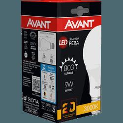 Lâmpada Bulbo LED 9W Amarela 3.000K Bivolt - Broketto Materiais Elétricos