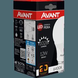 Lâmpada Bulbo LED 12W Branca 6.500K Bivolt - Broketto Materiais Elétricos
