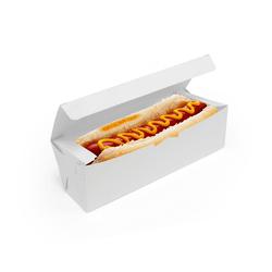 CAIXA HOT DOG DELIVERY BRANCA - 50 UNIDADES - MIX0048BR - CaixaMix Embalagens
