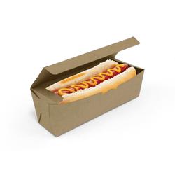 CAIXA HOT DOG DELIVERY KRAFT - 50 UNIDADES - MIX0048K - CaixaMix Embalagens