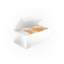 CAIXA DUPLA LANCHE HAMBURGUER BRANCA - 50 UNIDADES - MIX0050BR - CaixaMix Embalagens