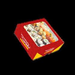 CAIXA BOX COM VISOR PARA SUSHI MÉDIA PERSONALIZADA - MIX0028MPERS - CaixaMix Embalagens