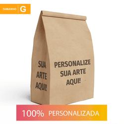 SACO S.O.S PARA DELIVERY PERSONALIZADO - TAMANHO G 25X16,5X32 CM - MIX0152 - CaixaMix Embalagens