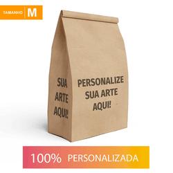 SACO S.O.S PARA DELIVERY PERSONALIZADO - TAMANHO M 24X12X28,5 CM - MIX0151 - CaixaMix Embalagens