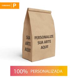 SACO S.O.S PARA DELIVERY PERSONALIZADO - TAMANHO P 17,5X10X23 CM - MIX0150 - CaixaMix Embalagens