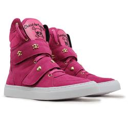 Tênis Sneaker Cano Alto Cheia De Marra Rosa Fúcsia... - CHEIA DE MARRA