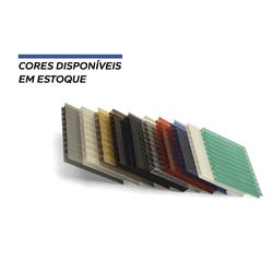 Kit 3 Chapas De Policarbonato Alveolar 105 x 300 6 Milímetros + Acessó... - COBERCHAPAS