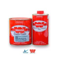 Kit Verniz PU 9100 900ml + Endurecedor 3093 450ml Alto Sólidos - Wanda - CONSTRUTINTAS