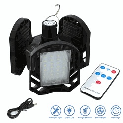 Lanterna LED Recarregável Solar e USB Dobrável Cam... - DANDARO