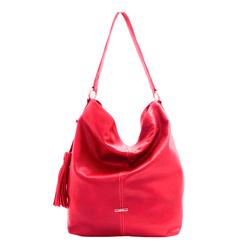 Bolsa Feminina em couro Poucelle cor Vermelho