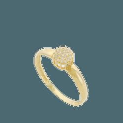 Anel Chuveiro em Ouro 18k com Zircônias - 01349008 - DELOVA