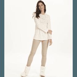 Pijama Manga Longa Com Legging Xadrez - K12660 - DIVINA STORE
