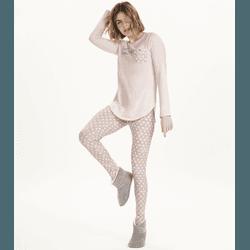 Pijama Manga Longa com Legging - K12570 - DIVINA STORE