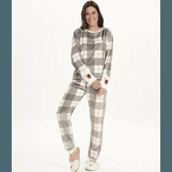 Pijama Manga Longa em Plush Fleece - K12495 - DIVINA STORE