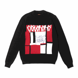 Jacquard Sweater Class OSCURURU Black - 3442 - DREAMSSKATESHOP