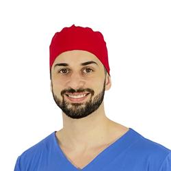 Bandana cirúrgica vermelha